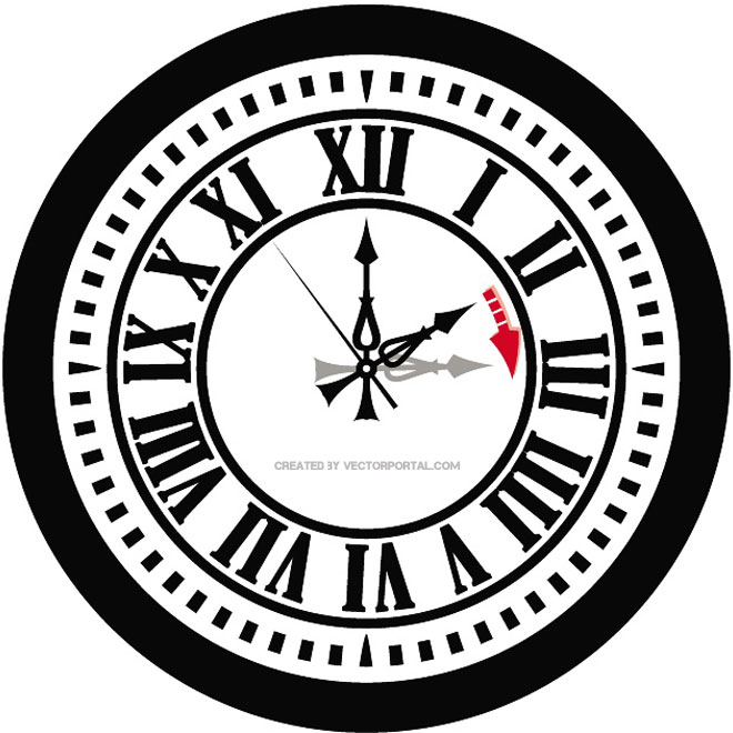 Daylight Saving Time Clock Free Vector