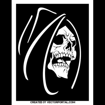 Death Face Image Free Vector