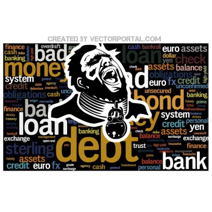 Debt Slave Illustration Free Vector