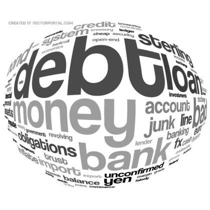 Debt Word Cloud Free Vector