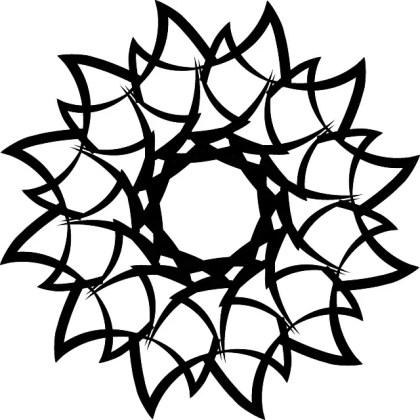 Decorative Tribal Shape Free Vector
