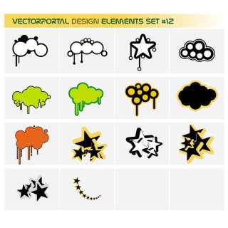 Design Elements Set Free Vector