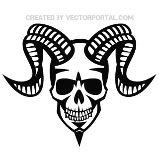 Devil Skull Graphics Free Vector