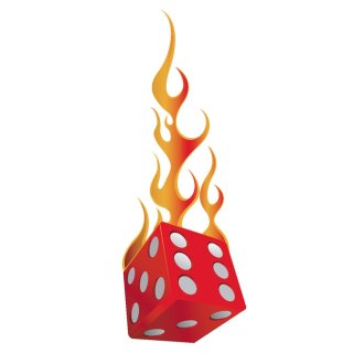 Dice on Fire Free Vector