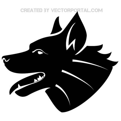 Dog Head Image Free Vector