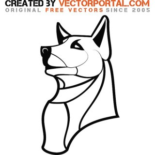 Dog Outline Drawing Free Vector