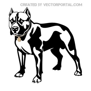 Dog Pitbull Free Vector