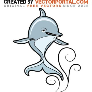Dolphin Stock Graphics Free Vector