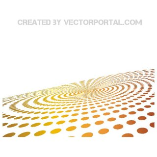 Dots in Perspective Background Free Vector
