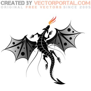 Dragon Fire Image Free Vector