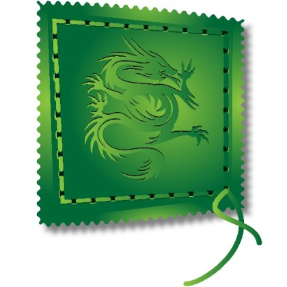 Dragon Label Free Vector