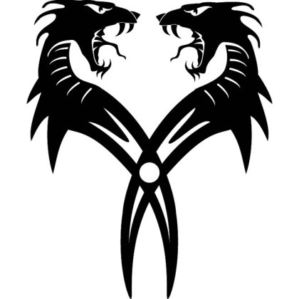 Dragon Twins Free Vector