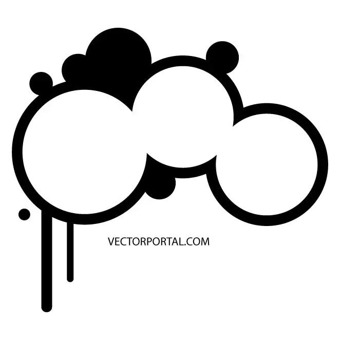 Drippy Circles Free Vector