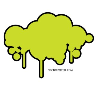 Drippy Cloud Free Vector