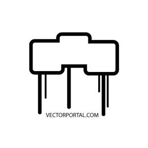 Drippy Rectangle Box Free Vector