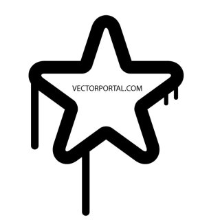 Drippy Star Free Vector