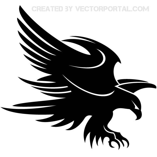 Eagle Attacking Stock Illustration Free Vector