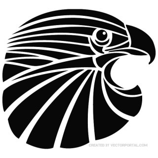 Eagle Head Vp Free Vector