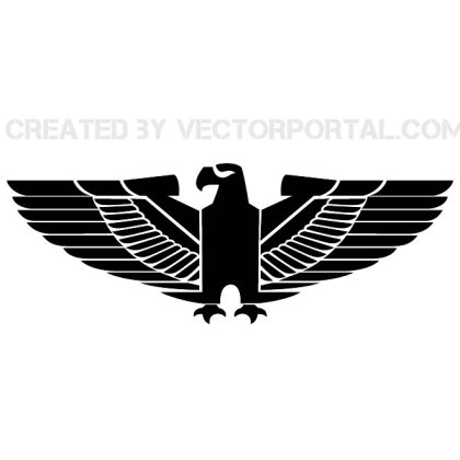 Eagle Totem Graphics Free Vector