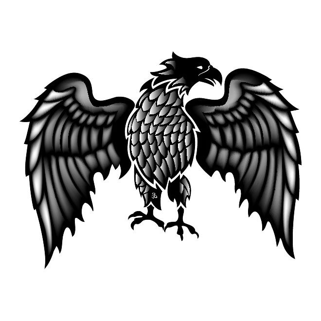 Eagle with Spread Wings Free Vector