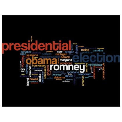 Election 2012 Word Cloud Free Vector