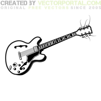 Electric Guitar Graphics Free Vector