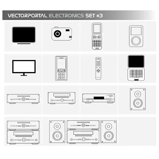 Electronics Free Set Free Vector