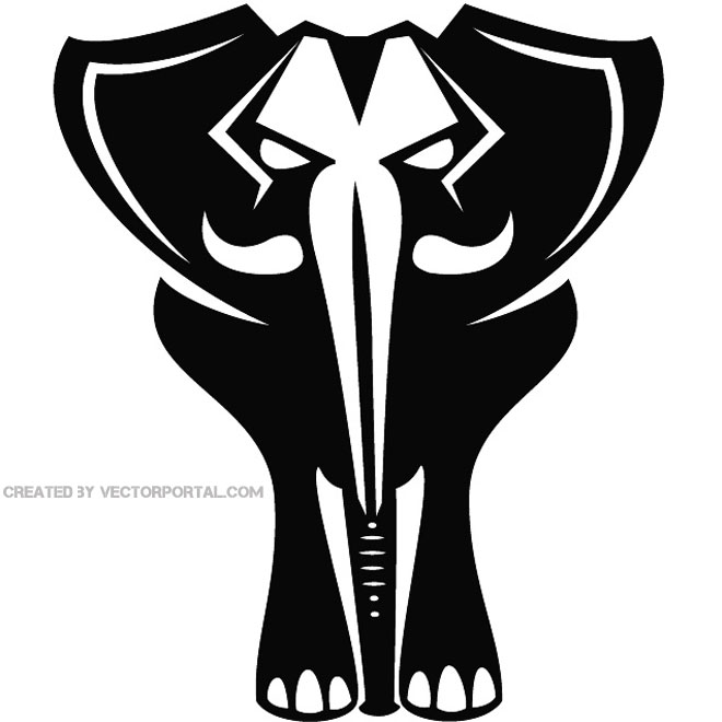 Elephant Drawing Free Vector