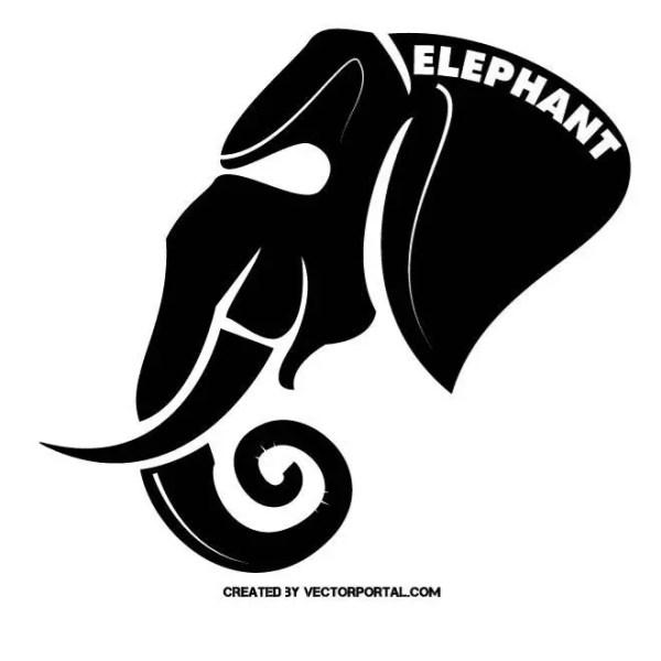 Elephant Mascot Free Vector