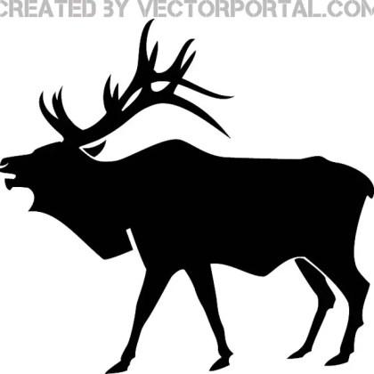 Elk Silhouette Free Vector