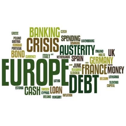 Europe Debt Crisis Word Cloud Free Vector