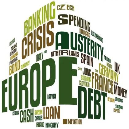 Europe Debt Word Cloud Free Vector