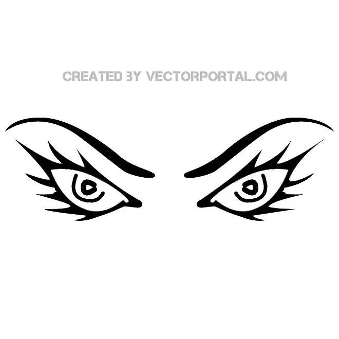 Evil Eyes Image Free Vector