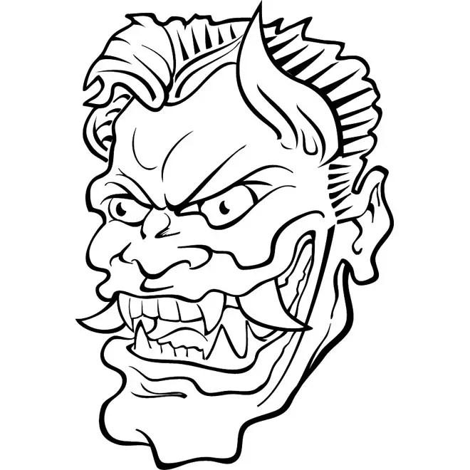 Evil Face Clip Art Free Vector