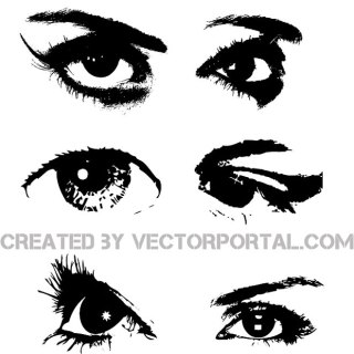 Eyes Image Collection Free Vector