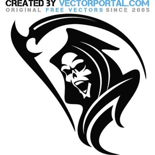 Face of Death Free Vector