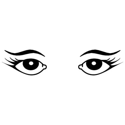 Female Eyes Image Free Vector