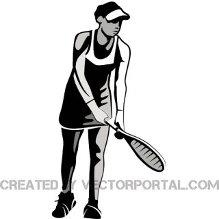 Female Tennis Player Free Vector