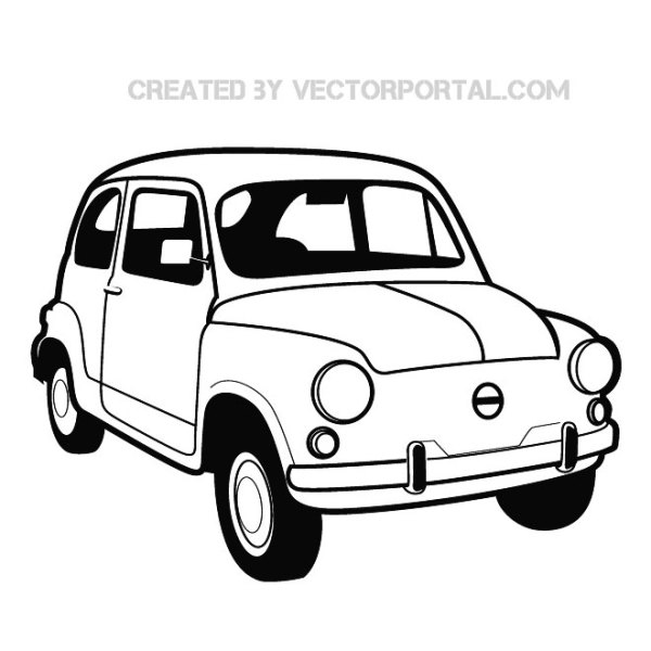 Fiat 600 Graphics Free Vector