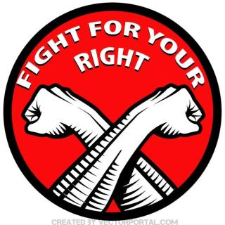 Fight for Your Right Label Free Vector