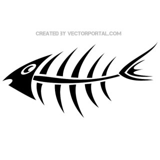 Fish Bone Image Free Vector