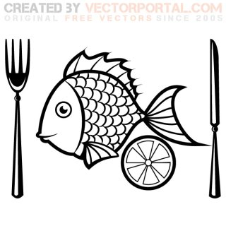 Fish Menu Illustration Free Vector