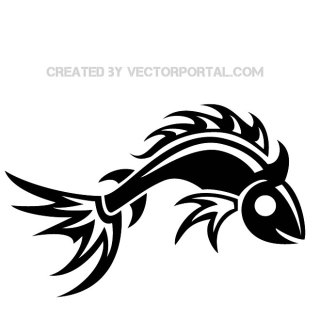 Fish Tribal Image Free Vector
