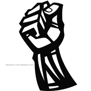Fist Graphic Clip Art Free Vector