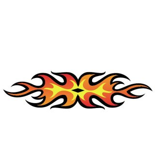 Flame Cartoon Graphics Free Vector