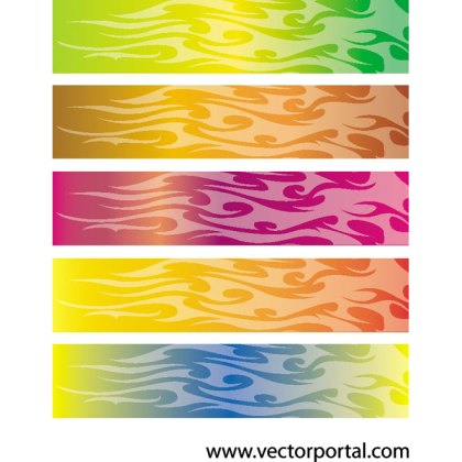 Flames Banner Backgrounds Free Vector