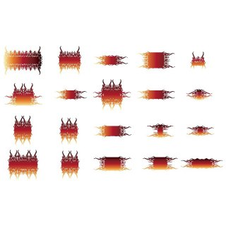 Flames Elements 20 Free Vector