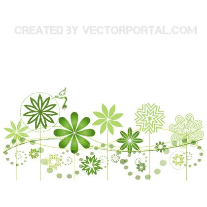 Floral Garden Background Free Vector