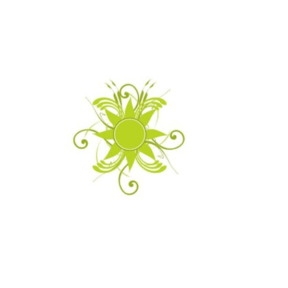 Floral Green Stock Free Vector