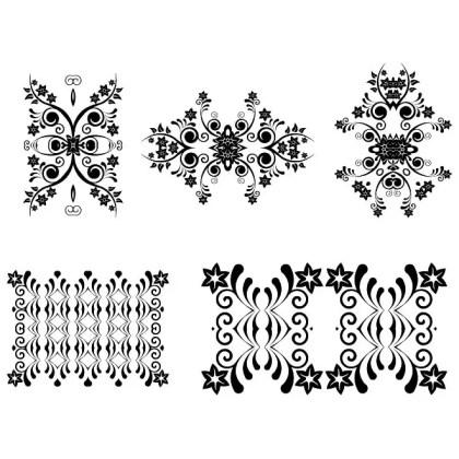 Floral Ornaments 4 Free Vector